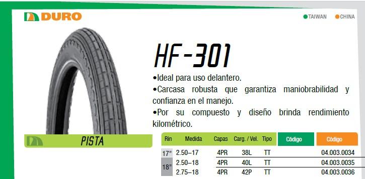 llanta para moto hf301