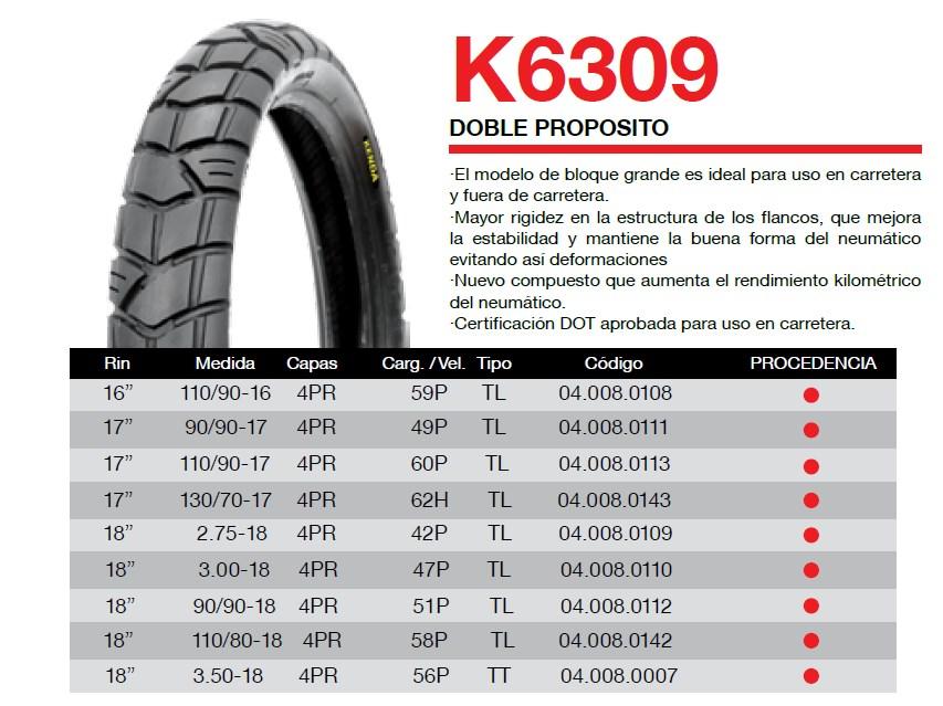 llanta para moto kenda k6309
